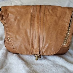 BCBG Max Azria Cognac Leather Handbag